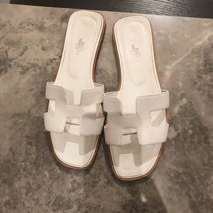 Hermes opal sandals size 40